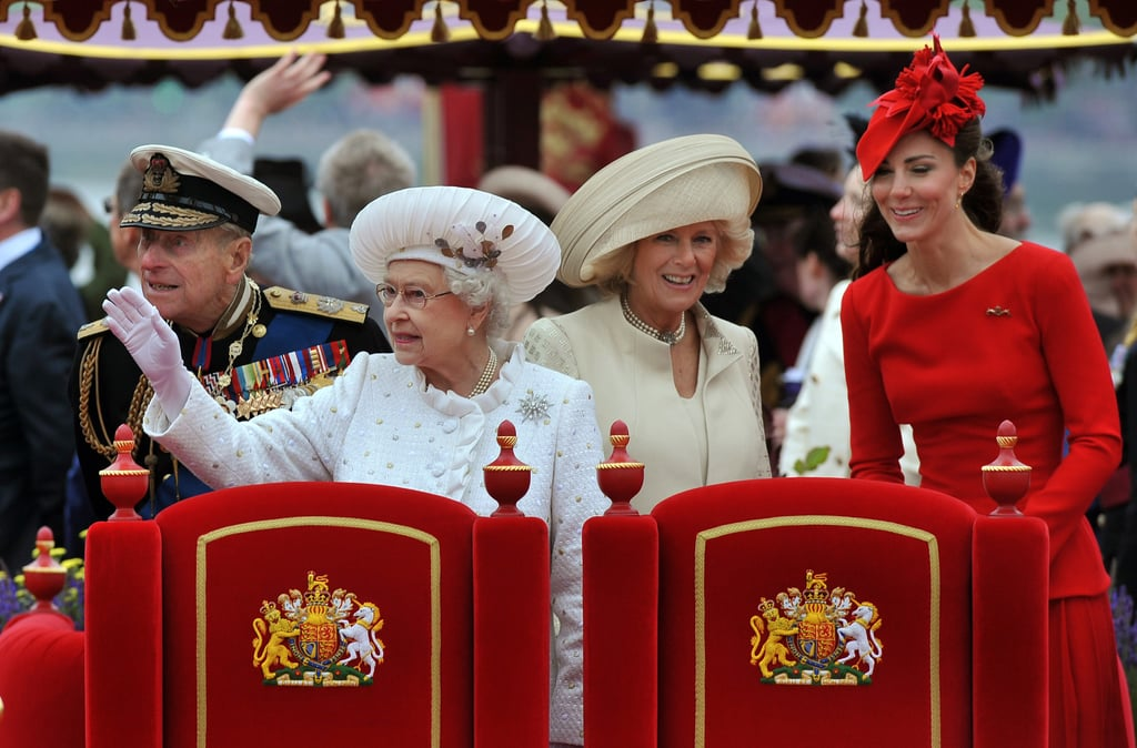The ladies made a royally good-looking group at the Thames Diamond Jubilee Pageant.