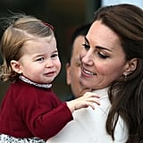 Kate and Charlotte have pretty much the same expression here, but what's Charlotte looking at?