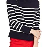 Court & Rowe Stripe Mock Neck Sweater