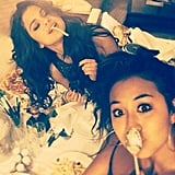 We've been there after a long day too, Selena —but we looked less fabulous doing it. Source: Instagram user selenagomez