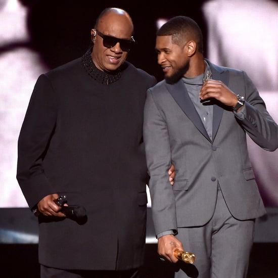 Usher and Stevie Wonder Grammys 2015 Performance