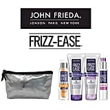 John Frieda Frizz Ease Showbag ($26) Includes:  John Frieda Friss Ease Shampoo  John Frieda Friss Ease Conditioner  John Frieda Friss Ease Anti-Frizz Primer