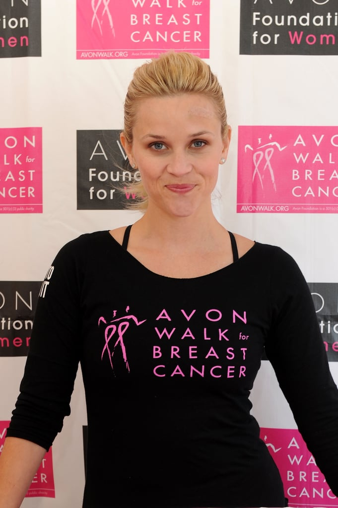 Reese Witherspoon wore pink in honor of Avon's Walk for Breast Cancer.
