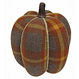Harvest Plaid Pumpkin