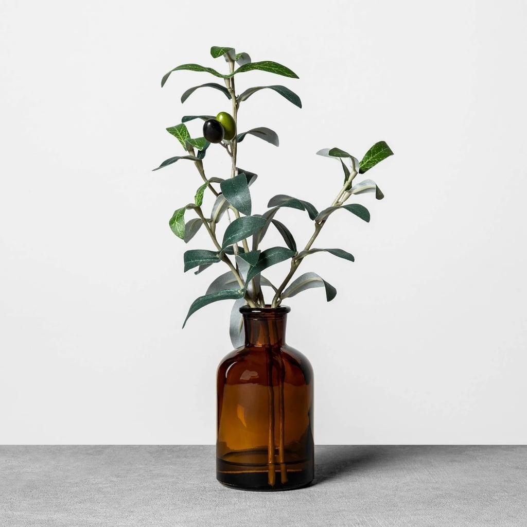 Faux Amber Olive Branch Arrangement