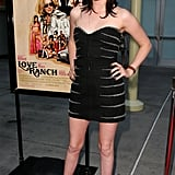 Stewart kept it sweet and simple in a lightly embellished Azzaro LBD at the Love Ranch LA premiere in June 2010.