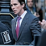 Christian Bale as Bruce Wayne on the set of The Dark Knight Rises.