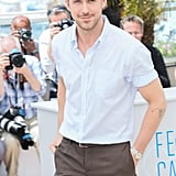 Ryan Gosling's baby blues were even brighter in the Cannes sun.