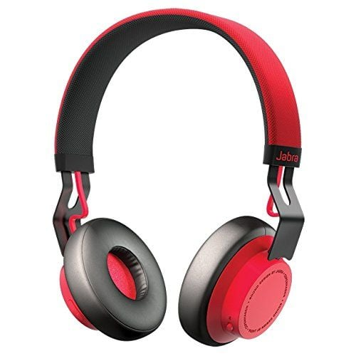 """The headphones: Jabra MOVE Wireless Bluetooth Stereo Headphones ($70, originally $100) The why: """"These bluetooth wireless ones are great for work. They're wireless, noise-canceling, have a long battery life and a rechargeable battery, and are lightweight."""" — Peter Feytser, product manager"""