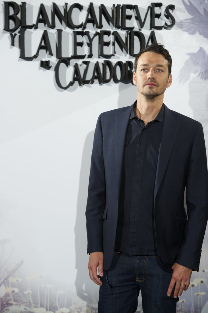 Rupert Sanders posed at the Snow White and the Huntsman photocall in Madrid.