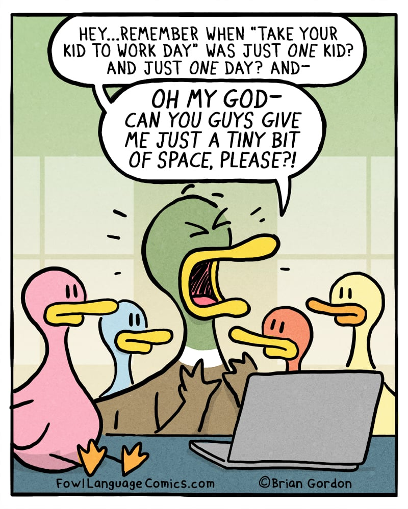 """This Comic About the New """"Take Your Kids to Work Day"""""""