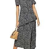 Topshop Animal Print Ruffle Dress
