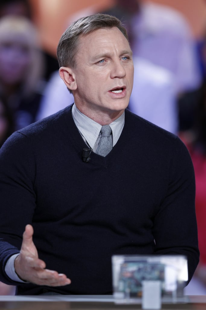 Daniel Craig appeared at an event in Paris.