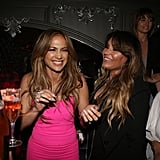 Jennifer Lopez laughed with a friend at her A.K.A. album release party in NYC on Tuesday.