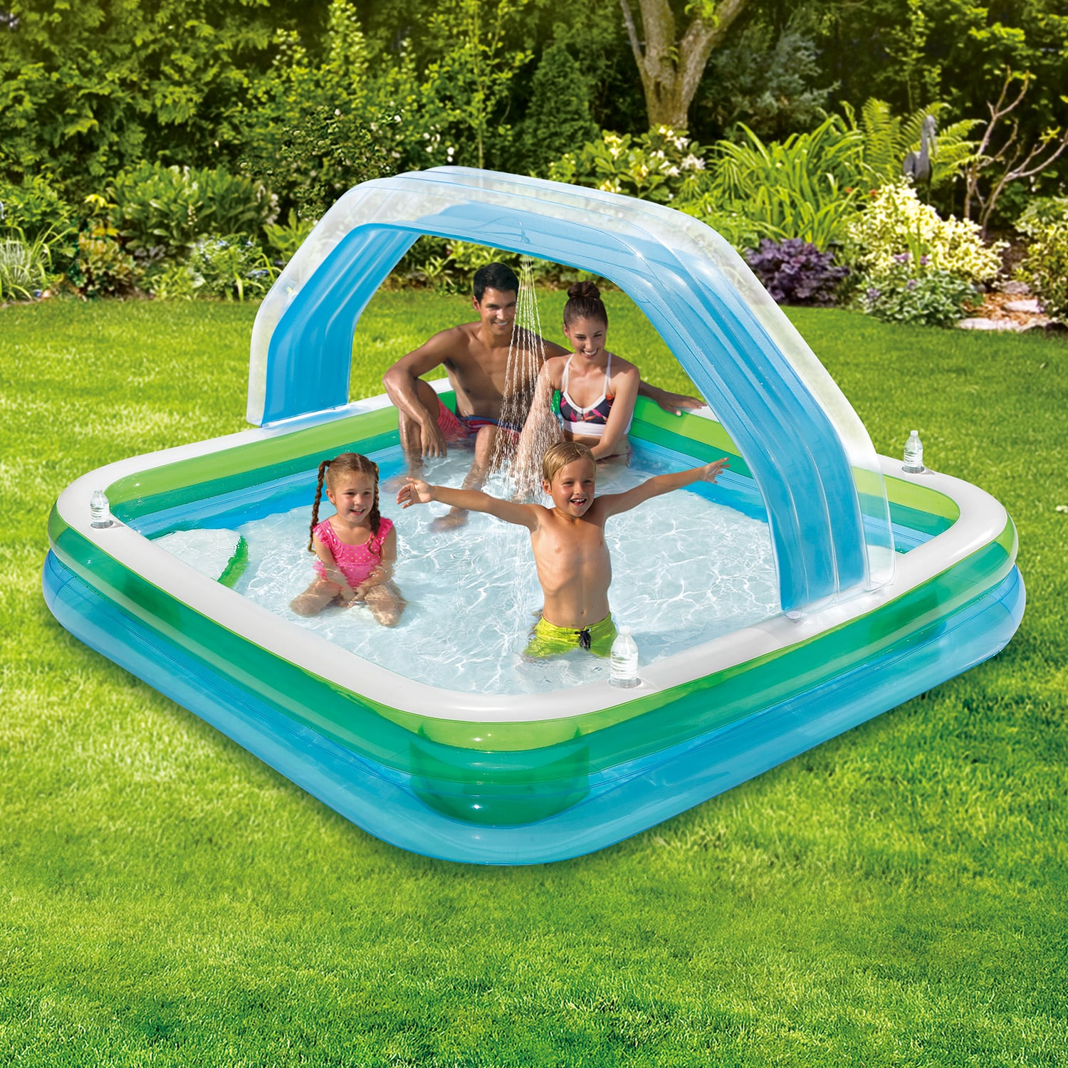 Summer Waves Square Inflatable Family Swimming Pool | Splish ...