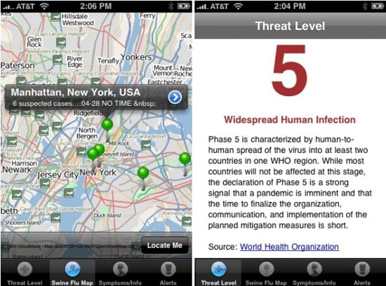Daily Tech: Swine Flu iPhone App For the Overly Paranoid