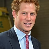 Prince Harry smiles during his meet and greet.