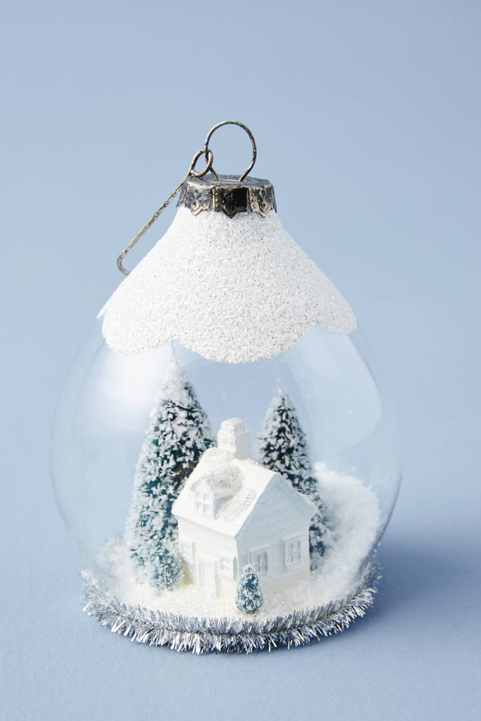 Christmas Snow Globes Australia.Snow Globe Blizzard Ornament Anthropologie Holiday Trim