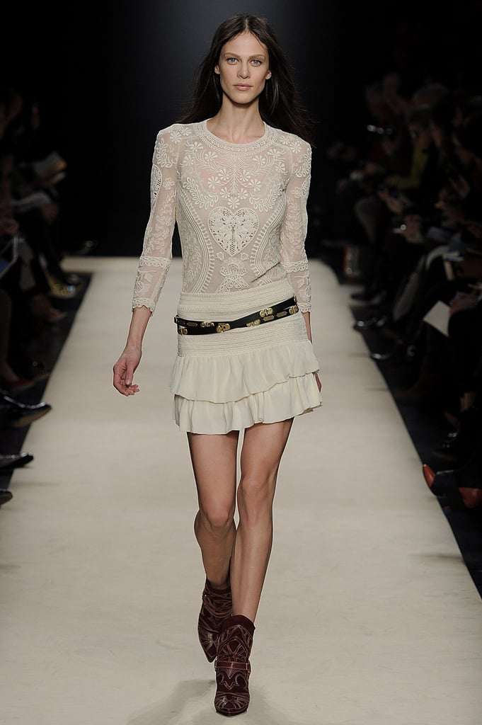 A little white boho dress, like this one from Marant's Fall 2012 collection, will make channeling Sienna Miller's effortless-cool vibe very easy.