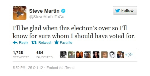 Something tells us that won't work out so well for you, Steve Martin...