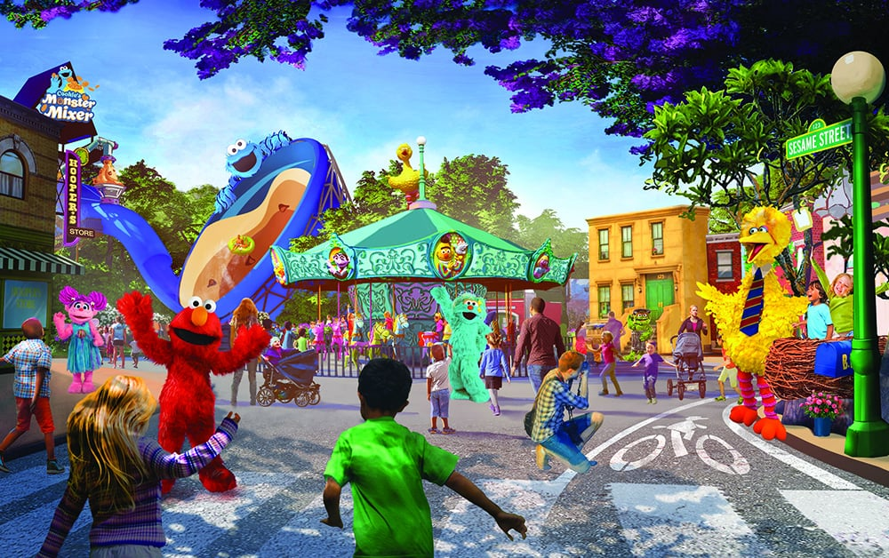 """Muppet-lovers, gather round! There's officially a brand-new Sesame Place coming to San Diego, CA! SeaWorld Entertainment — the company behind the original beloved Sesame Street-themed park in Middletown Township, PA — announced via press release that the second Sesame Place location is opening in Spring 2021. And if you've ever hit up its original spot then you're probably well-aware that your kiddos are in for a serious treat!  In honor of Sesame Street's 50th anniversary, Steve Youngwood, President, Media & Education and Chief Operating Officer of Sesame Workshop, announced the news of this latest park addition. """"We are excited to share the news of a major opportunity for kids and families to connect with and learn from the brand and its beloved characters,"""" he said in a press release. """"The opening of Sesame Place San Diego will give guests a unique and powerful way to experience Sesame Street, enable us to connect with even more families, and further our educational mission.""""      Related:                                                                                                           Sesame Street's Karli Reveals That Her Mom Is a Recovering Addict in a New Storyline               So what can parents expect to see at the new park? Rides, water slides — which are actually pretty fun for adults, too! — live character shows, parades your little ones will go berserk over, and interactive experiences with your kids' favorite characters, like Oscar the Grouch.  Given the fact that the original Sesame Place has been open for 40 years, it's no surprise the brand is expanding. """"We share Sesame Workshop's goal of educating and entertaining generations of children, and the opening of a second park, the only one of its kind on the West Coast, furthers our company mission to provide guests with extraordinary experiences,"""" said Marc Swanson, Interim Chief Executive Officer of SeaWorld Entertainment. """"We are thrilled to be able to grow the presence of Sesame Place the"""