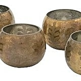 Brass Votive Holders ($43 set of 6)