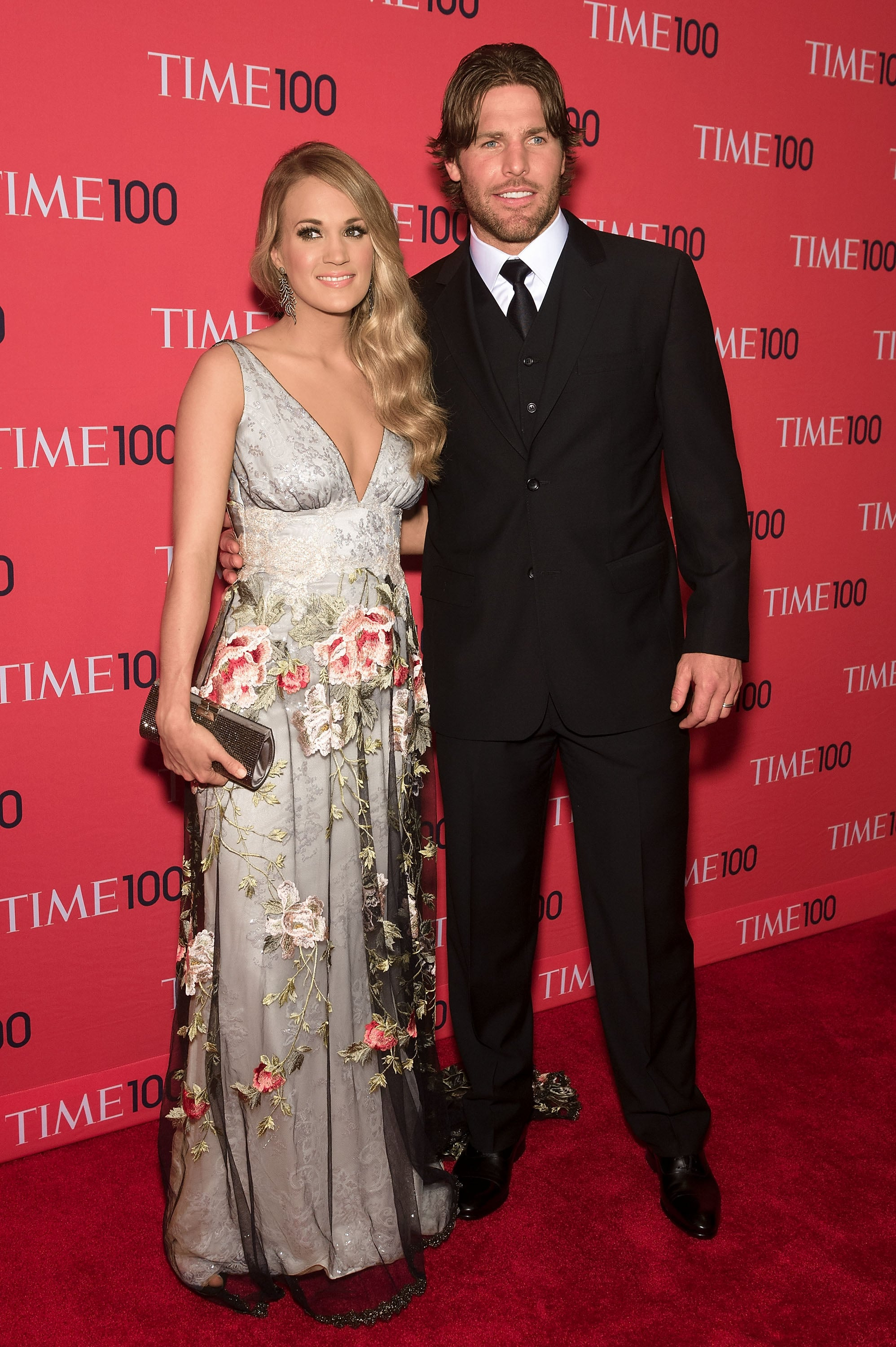 NEW YORK, NY - APRIL 29:  Carrie Underwood (L) and husband Mike Fisher attend the 2014 Time 100 Gala at Frederick P. Rose Hall, Jazz at Lincoln Center on April 29, 2014 in New York City.  (Photo by D Dipasupil/FilmMagic)