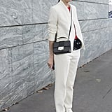 The white suit felt modern and fresh on Caroline Issa.