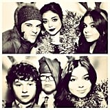 Ariel Winter scored some photo-booth shots with her castmates at the Modern Family Christmas party. Source: Instagram user arielwinter