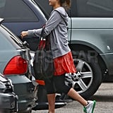 Jessica Alba working out after giving birth.