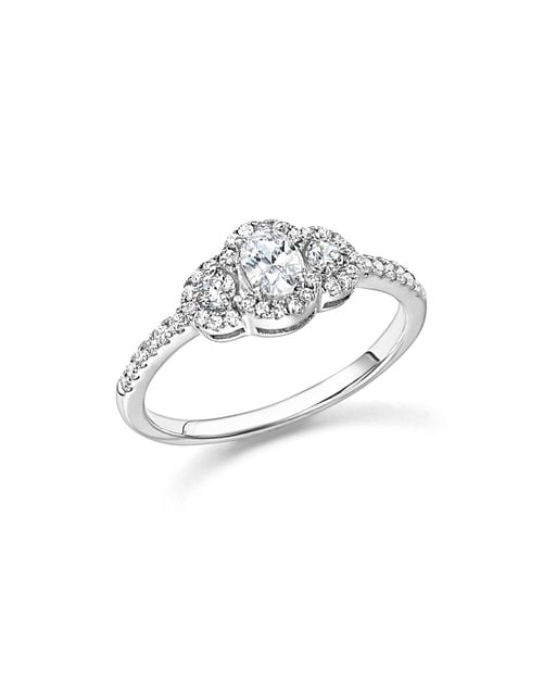 Bloomingdale's Diamond Oval and Round Cut Centre Ring