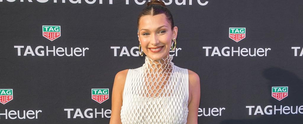 Bella Hadid White Knit Dress Monaco 2018