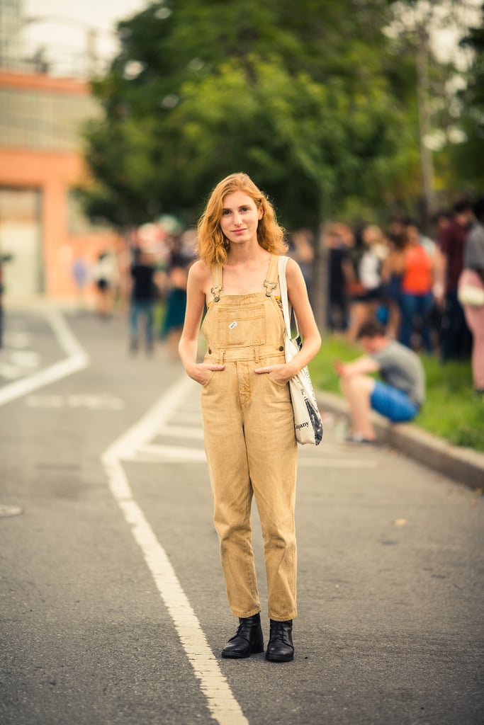 At House of Vans latest Summer concert, overalls (minus the tee) gave a tomboy look a girl's spin. Source: Bryan Derballa