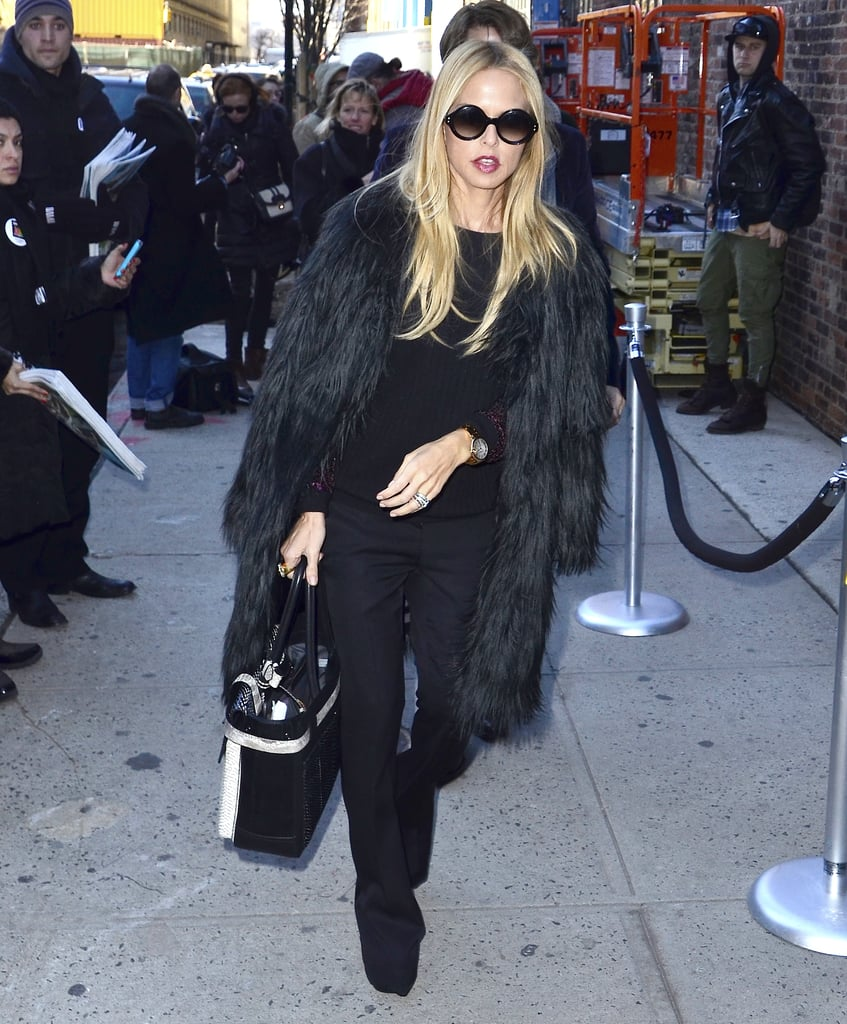 Rachel Zoe hit the streets in all black.