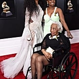 SZA With Her Mother and Grandmother at the Grammy Awards in 2018