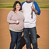 Baseball Gender-Reveal Baby Announcement