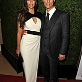 Matthew McConaughey posed with his wife, Camila Alves, at the Hollywood Film Awards.