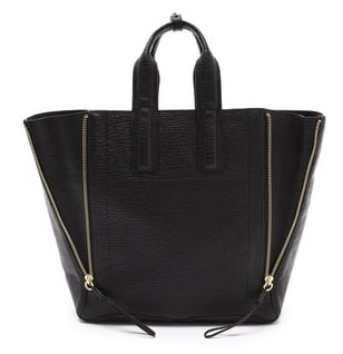 I like my bags to be structured and had my eye on the Pashli satchel for a while, however I think this updated tote style also by Phillip Lim has won me over. — Laura, Shopstyle.com.au country manager.  Tote, approx $1024, 3.1 Phillip Lim at Shopbop