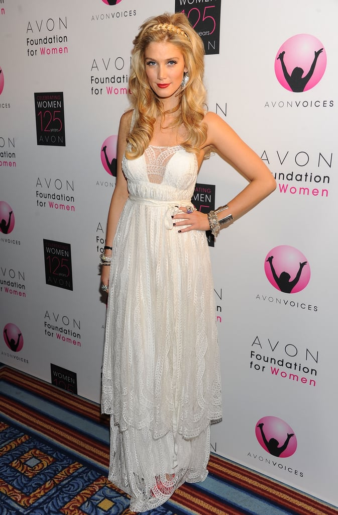 Radiant in white at the Avon Foundation for Women Global Voices for Change Gala in NYC on Nov. 2, 2011.