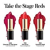 Revlon Marvelous Mrs. Maisel Take the Stage Red Lipsticks
