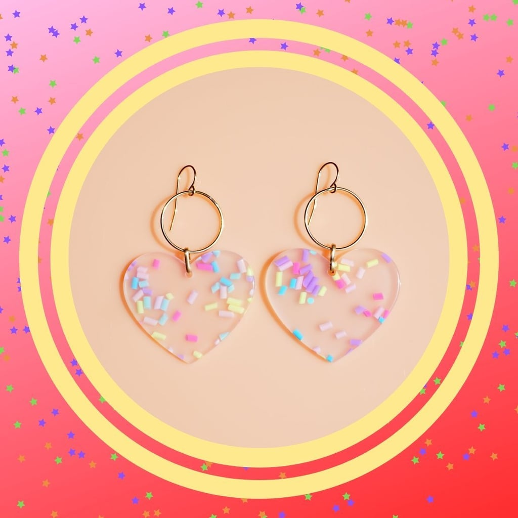 Mandy Moore-Inspired Heart Earrings