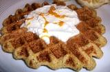 Orange cornmeal waffle