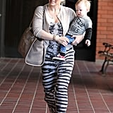 Hilary Duff Takes Her Little Ladies' Man to Class in LA