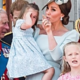Kate Middleton Soothes Princess Charlotte June 2018
