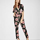 Express Floral Jersey Jumpsuit