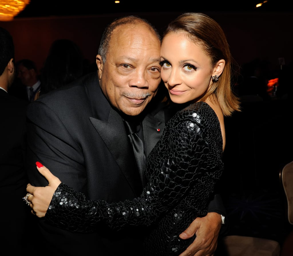 """. . . Quincy Jones! The legendary music producer worked with Nicole's dad, Lionel, on many of his hits throughout the '80s, including """"We Are the World."""" Nicole has remained close with Quincy's daughters, Rashida and Kidada, since she was young."""