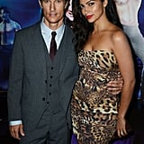 Matthew McConaughey had Camila Alves on his hip at the Magic Mike premiere in London.