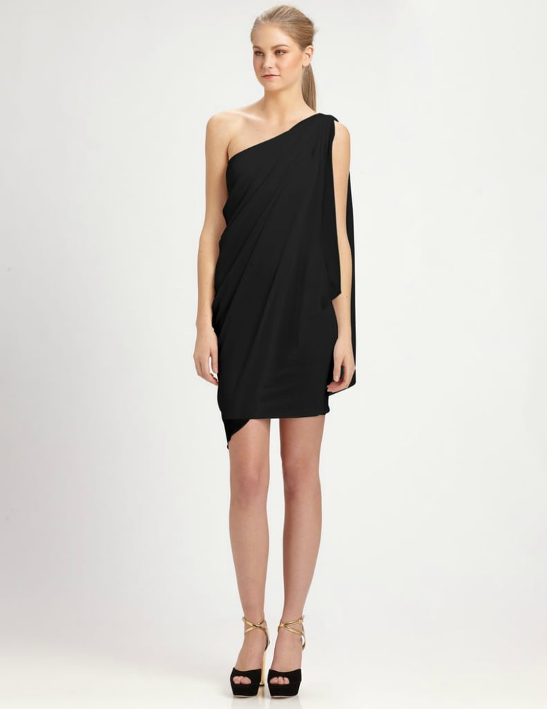 Alice + Olivia's Draped One-Shoulder Dress ($223, originally $297) is ideal for Summer rooftop parties or a semi-formal wedding event.