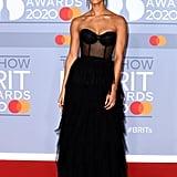 Vick Hope at the 2020 BRIT Awards Red Carpet
