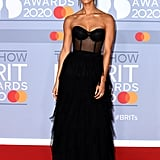 Vick Hope on the 2020 BRIT Awards Red Carpet